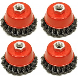 4x Knot wire wheel cup...